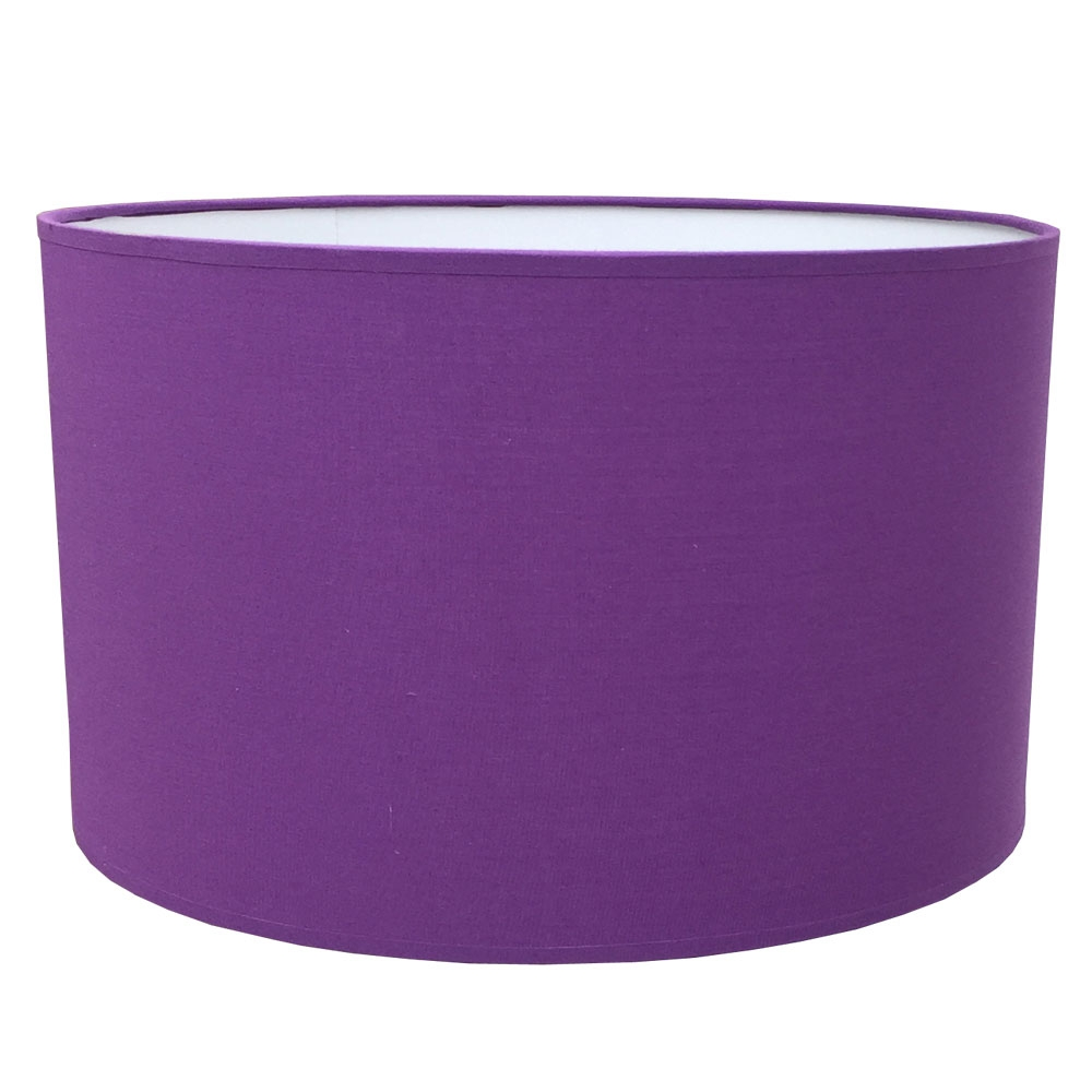 Drum Table Lampshade Royal Purple